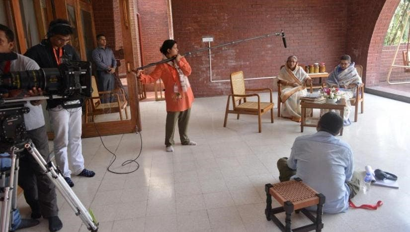 A scene from the shooting of Hasina - A Daughter's Tale