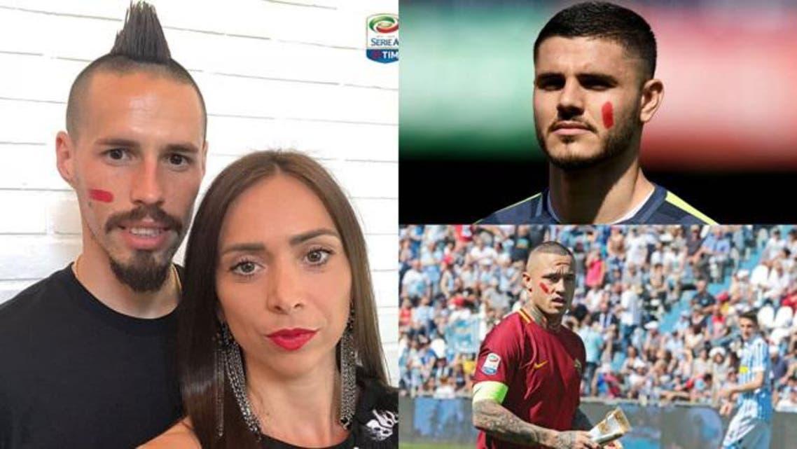 فوتبالیستهای ایتالیا با زدن رژ قرمز به چهرههایشان خواهان پایان خشونت علیه زنان شدند