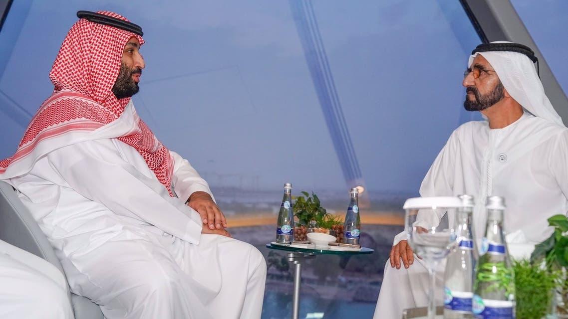 الأمير محمد بن سلمان والشيخ محمد بن راشد