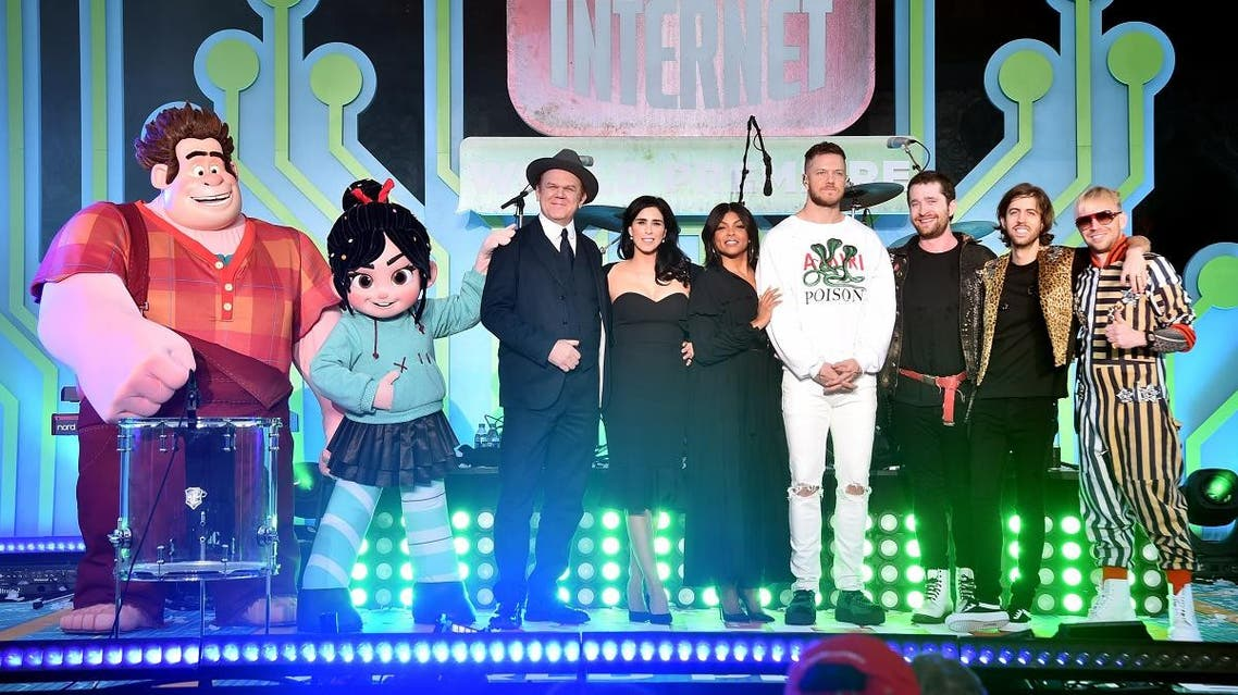 """the World Premiere of Disney's """"RALPH BREAKS THE INTERNET"""" at the El Capitan Theatre. (AFP)"""