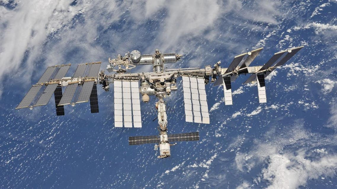 ISS photographed by Expedition 56 crew members from a Soyuz spacecraft after undocking. (Reuters)
