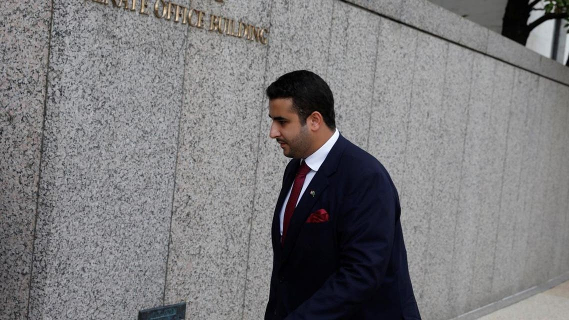 Saudi Arabian ambassador to the United States Prince Khalid bin Salman bin Abdulaziz arrives on Capitol Hill in Washington, U.S., July 24, 2017. (File photo: Reuters)
