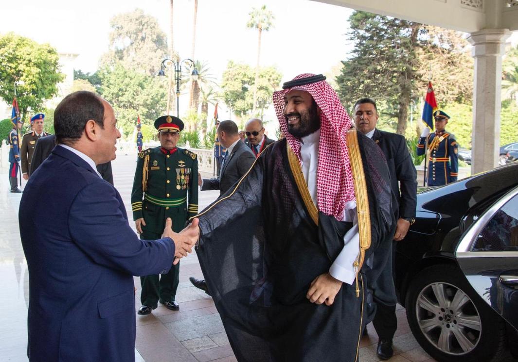 Saudi crown prince and sisi. (SPA)
