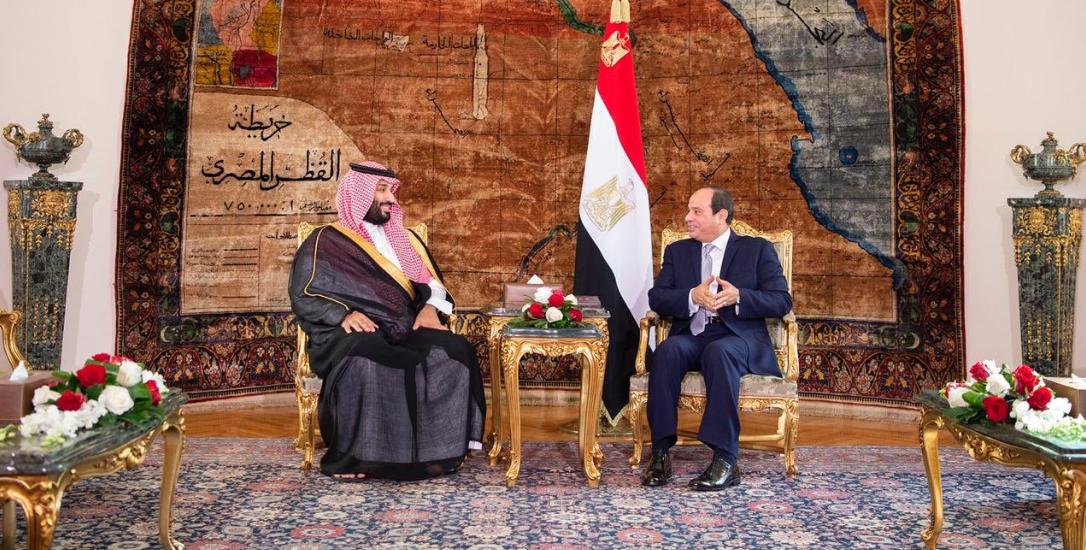 Saudi crown prince and sisi. (SPA)d