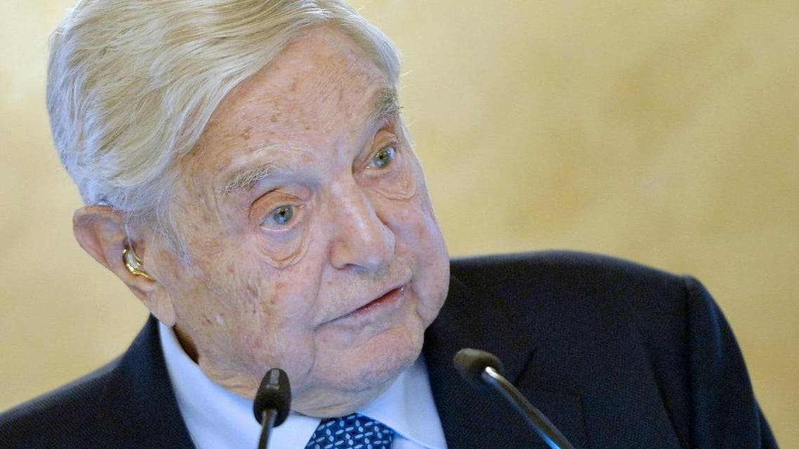 """US investor George Soros gives a speech on the occasion of the """"25th Anniversary of the Open Medical Institute"""" in Vienna, Austria, on November 19, 2018.  (AFP)"""