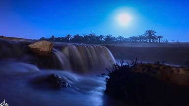 بالصور.. هكذا هو ليل الوادي العملاق بالسعودية