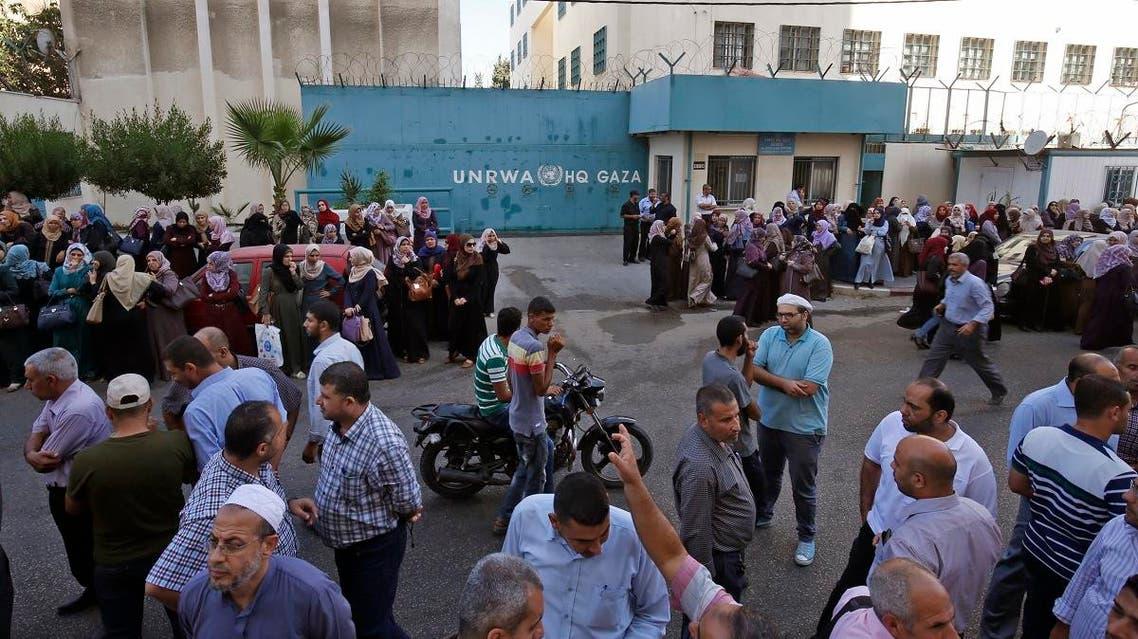 UNRWA palestine. (AFP)