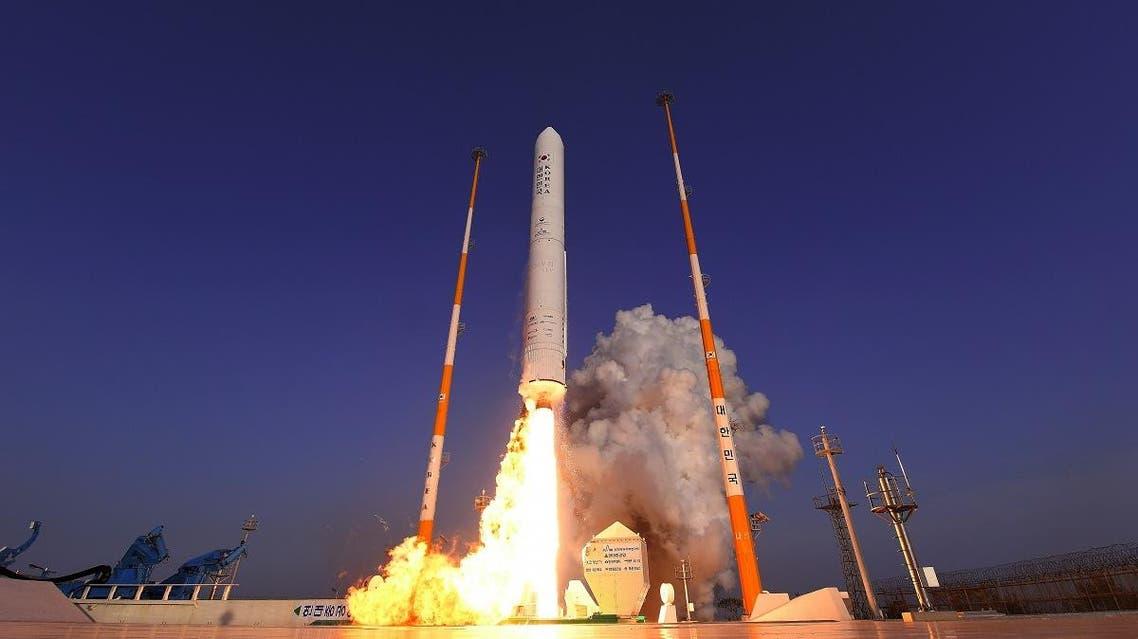 South Korea rocket launch. (AFP)