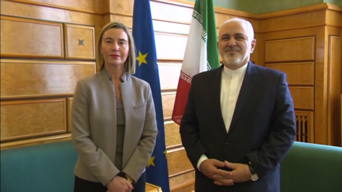 On Wednesday, Federica Mogherini met Iranian foreign minister in Geneva. (Reuters)