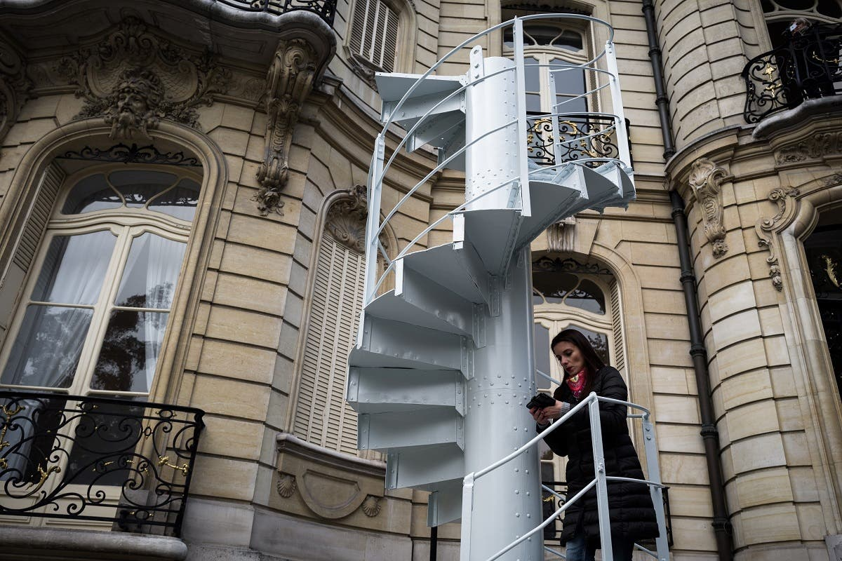 Eiffel Tower stairs. (AFP)