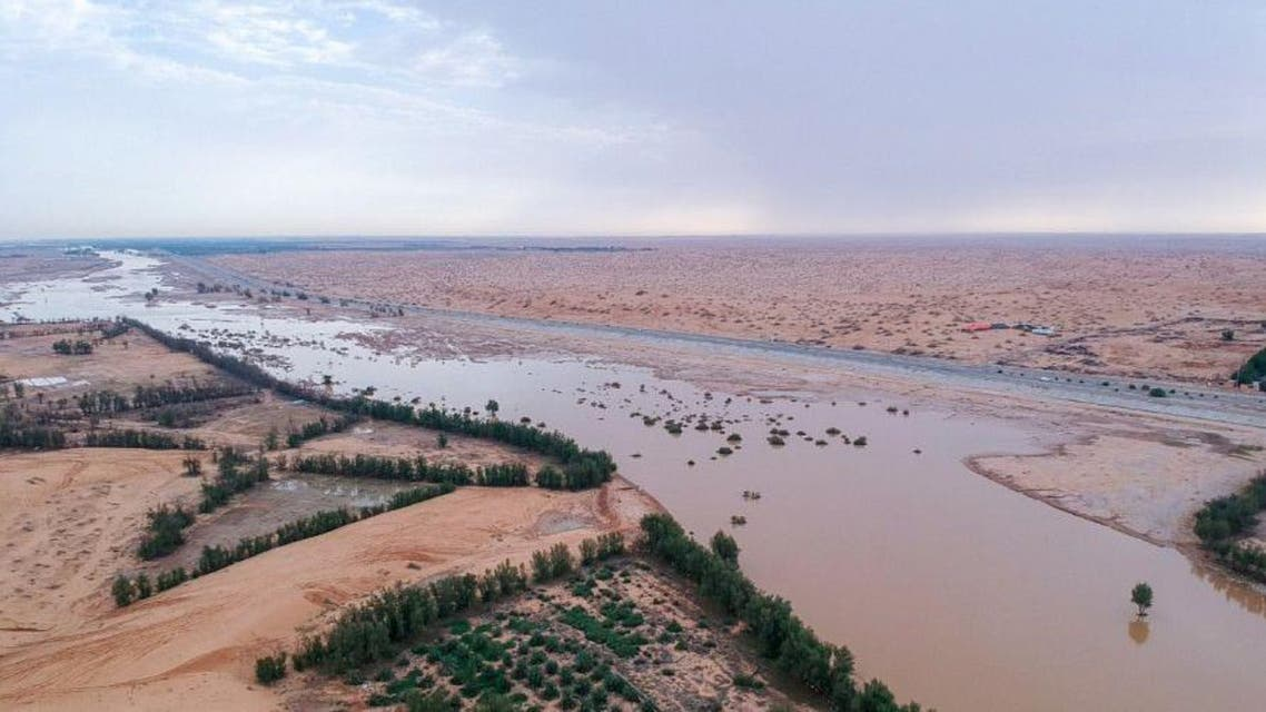 IN PICTURES: After rains, Wadi al-Rummah in Saudi's Qassim comes back to life main