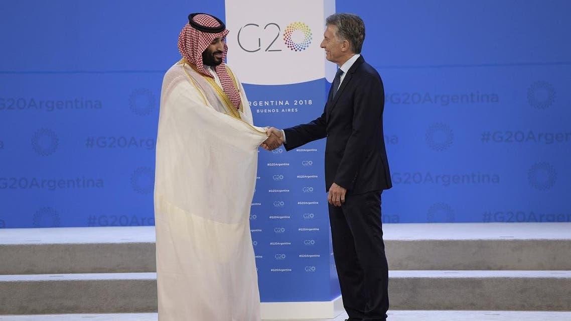 Saudi Crown Prince (L) Argentina's President Mauricio Macri 2 (AFP)