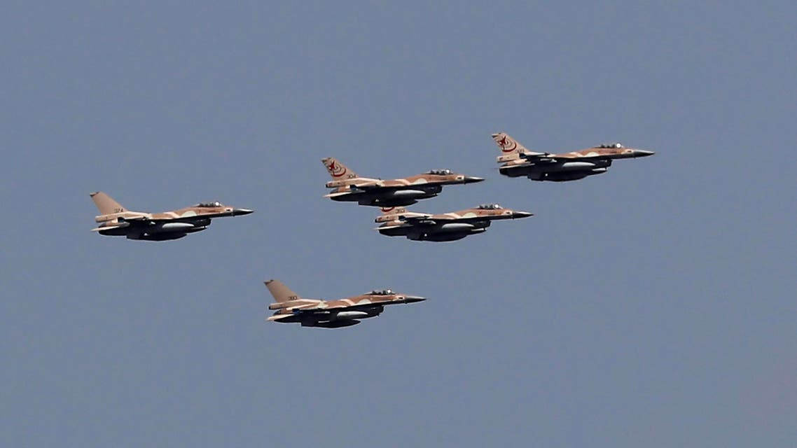 Israeli F-16 fighter jets perform a fly over Jerusalem during celebrations marking Israel's 69th Independence Day on May 2, 2017. (File photo: AFP)