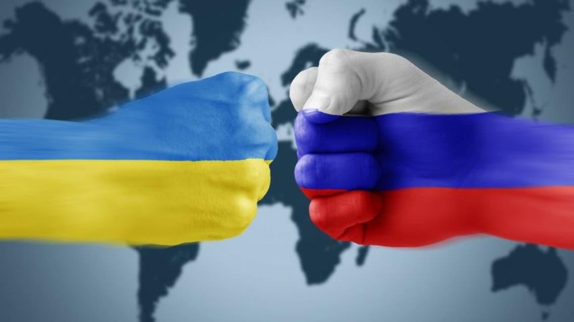أوكرانيا روسيا علم