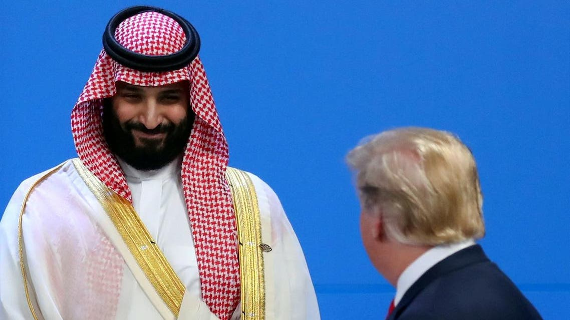 Saudi crown prince and Trump (Reuters)