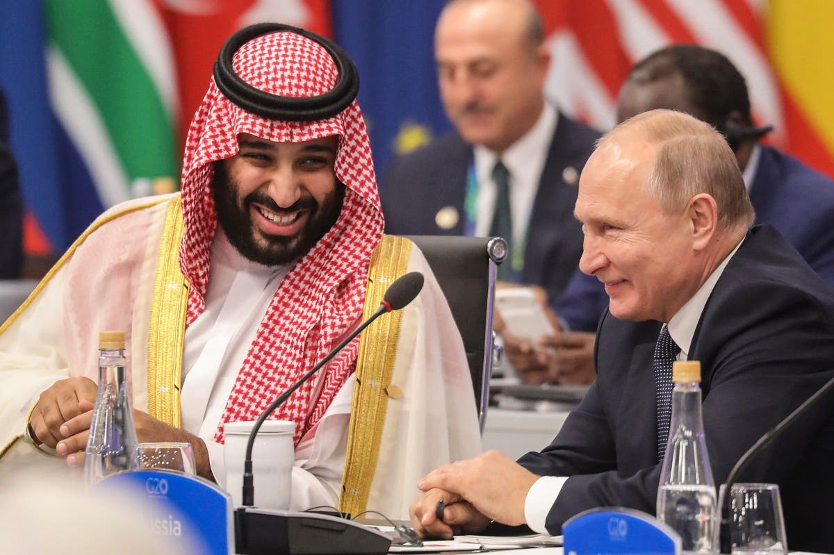 Saudi crown prince and Putin 1(AFP)
