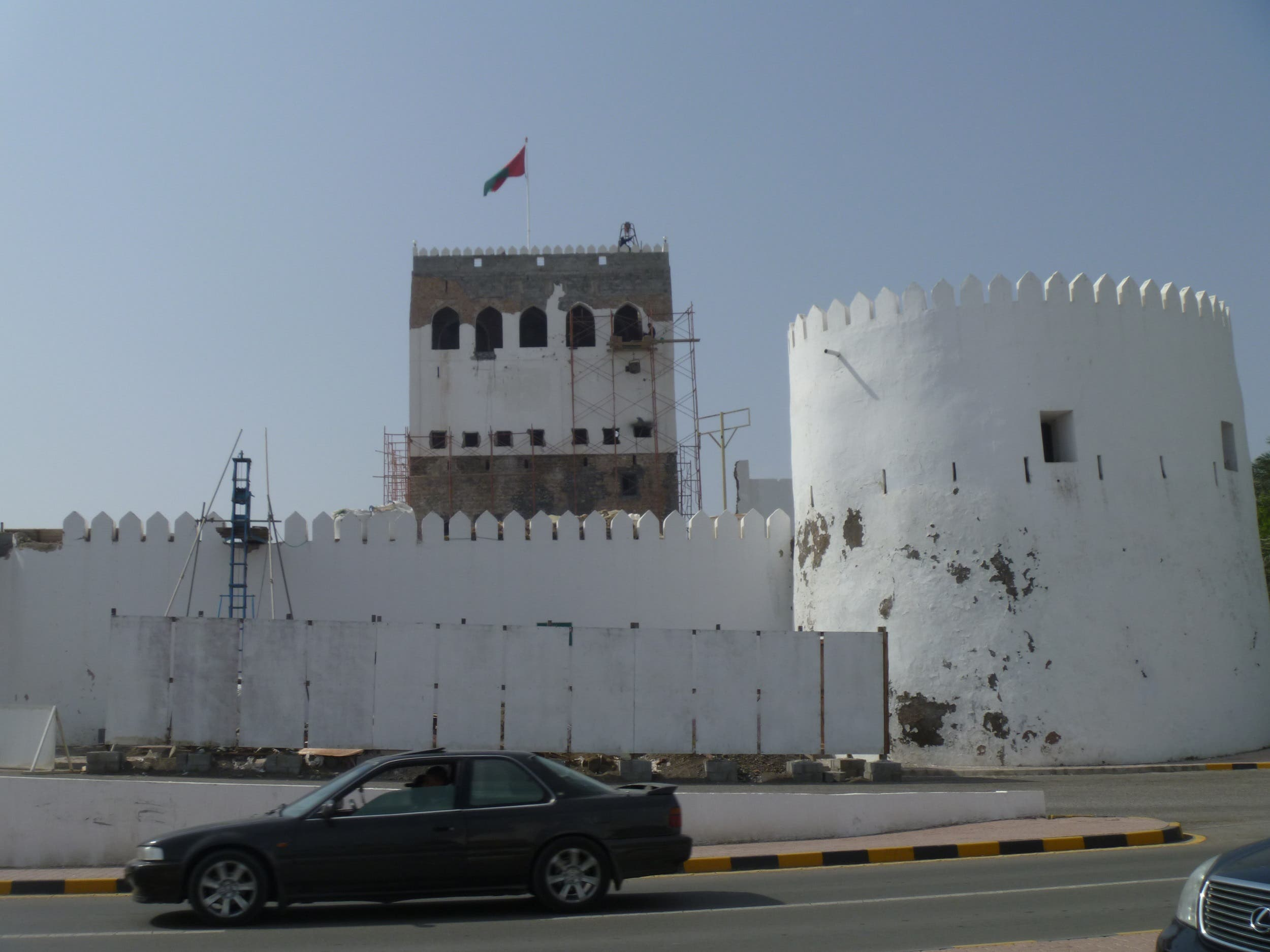 Sohar, the legendary home of Sinbad, is home to Sohar fort which has seven towers of its restored fort, dazzling white against the deep blue of the sky and sea. (Supplied)