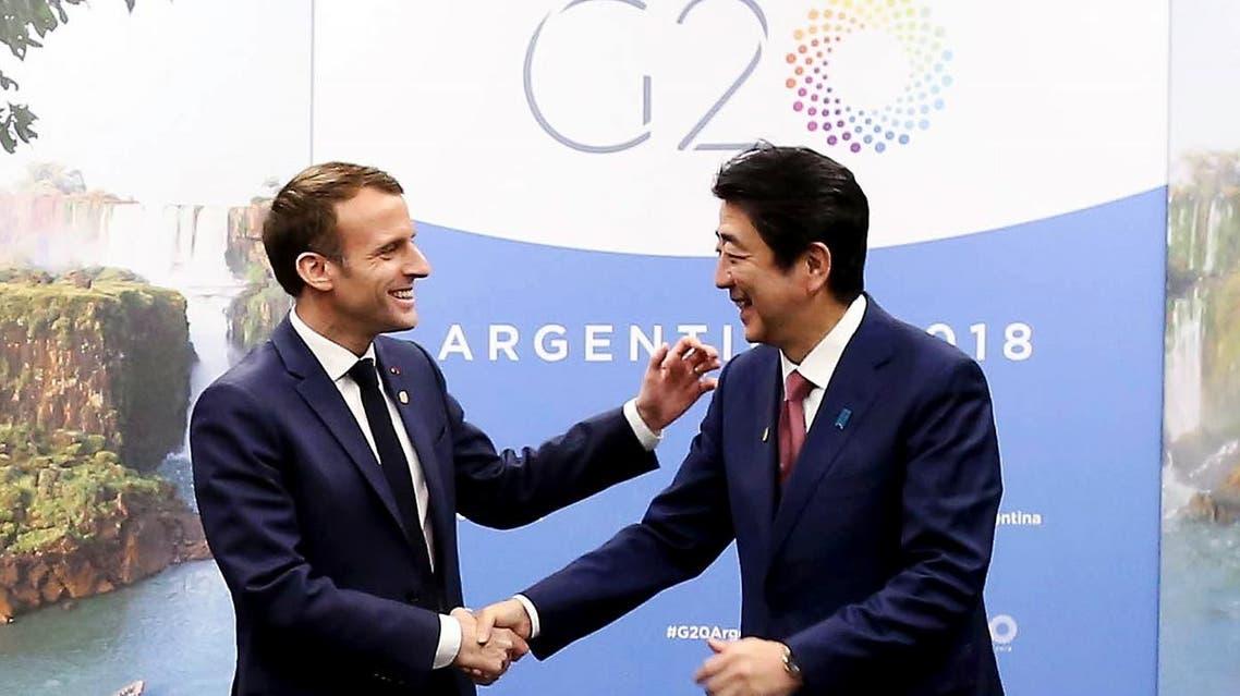 Macron Abe G20. (AFP)