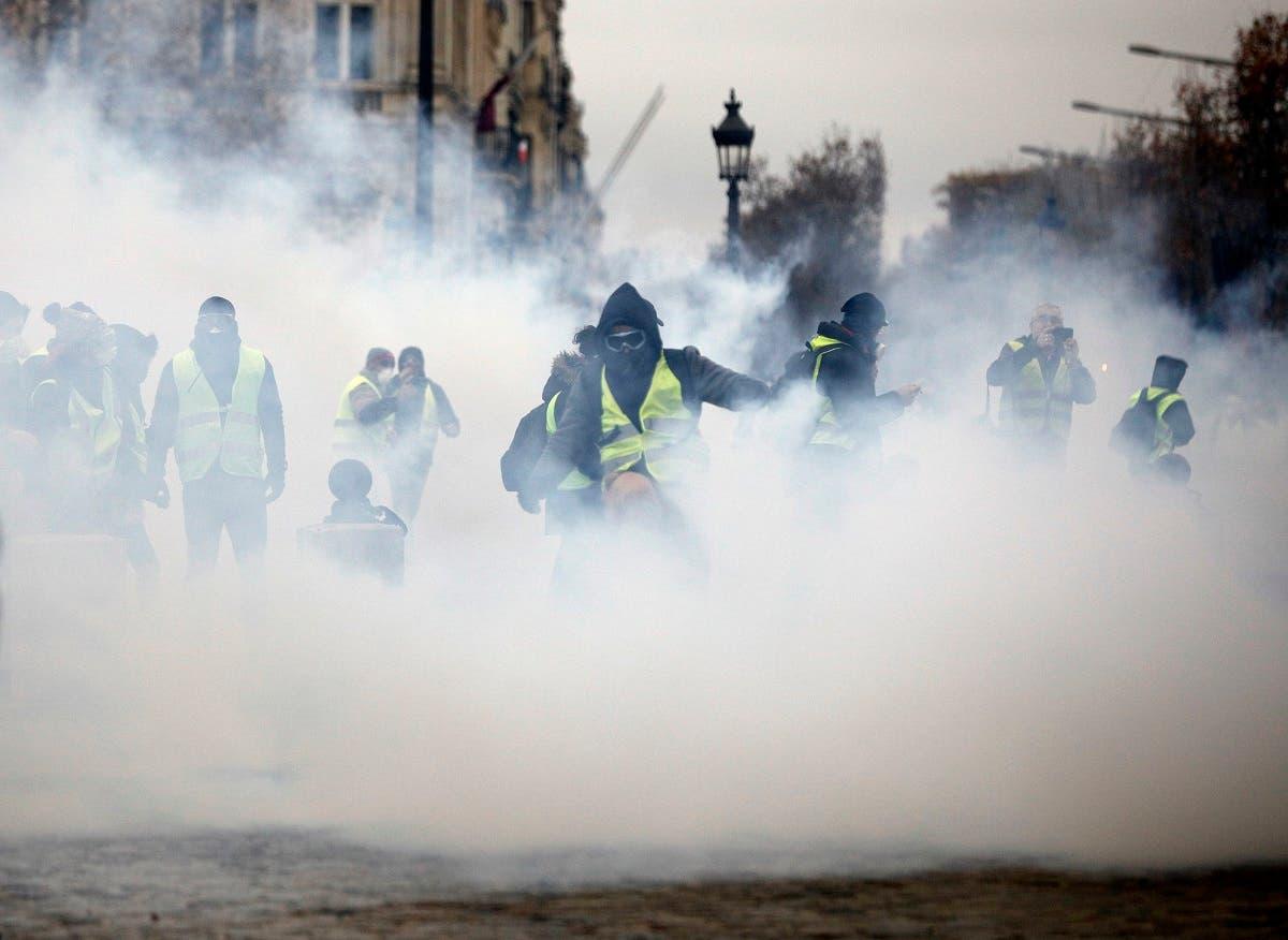 France protests. (AP)