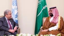 محمد بن سلمان يلتقي أمين عام الأمم المتحدة بقمة العشرين