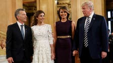 Trump jokes with Argentinian President Macri about past business ties