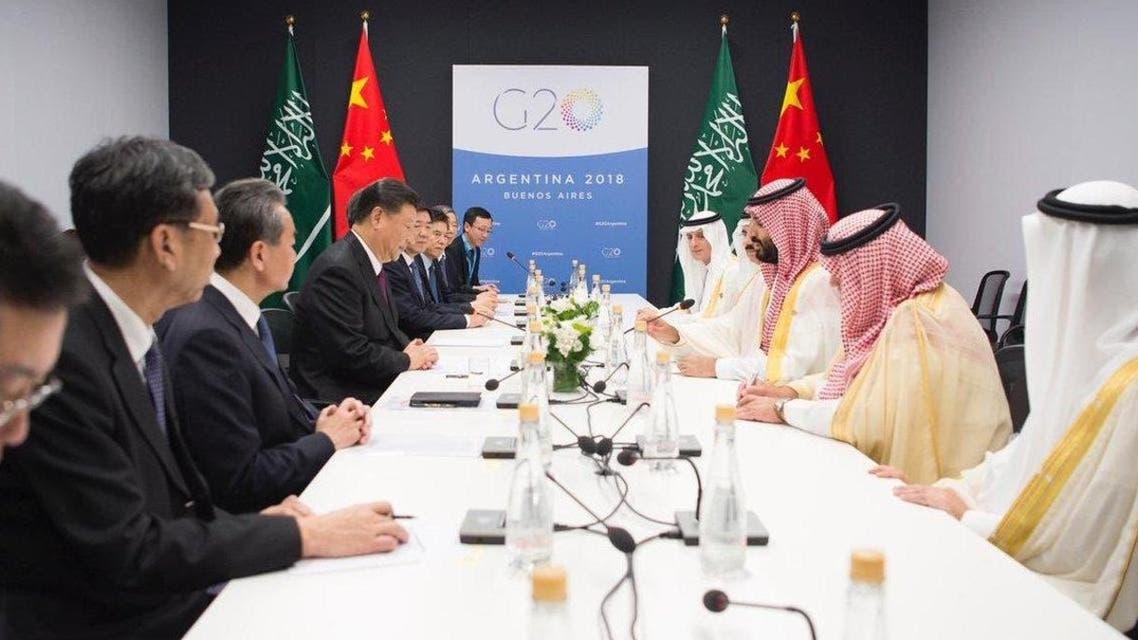 محمد بن سلمان ورئيس الصين