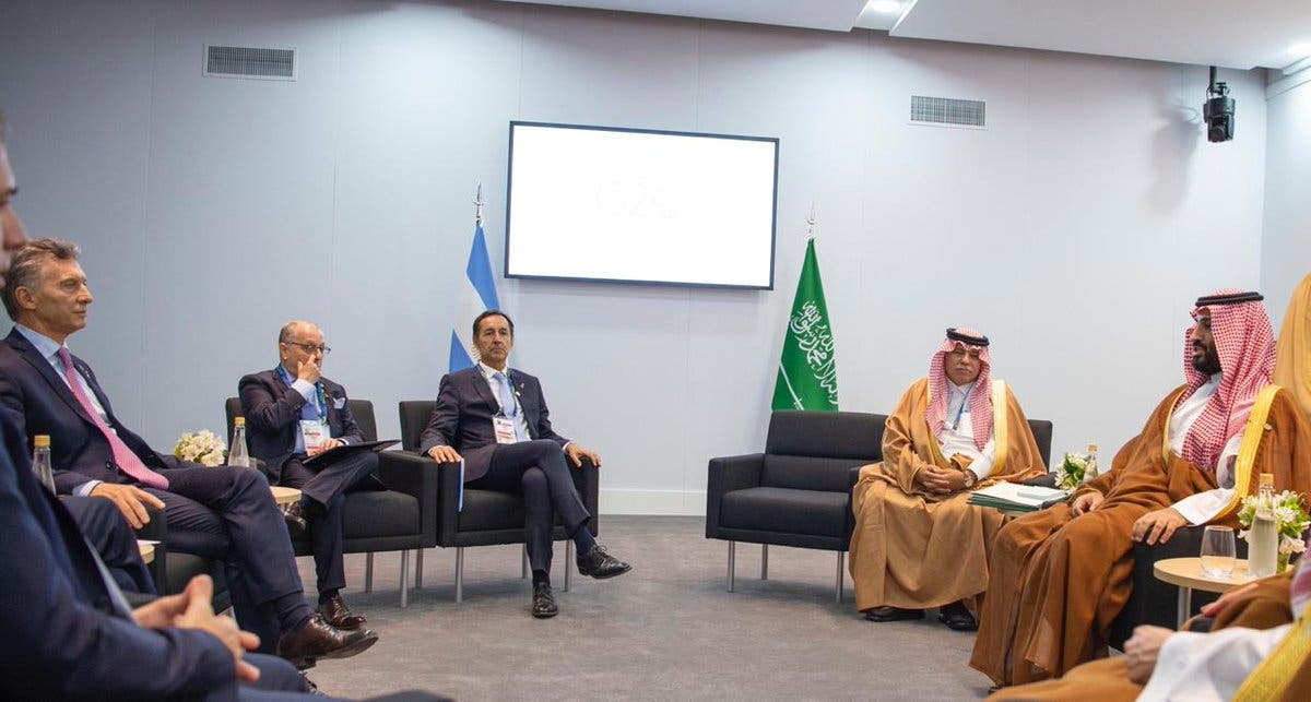 Saudi Crown Prince meets Argentina's President on the sidelines of G20 summit