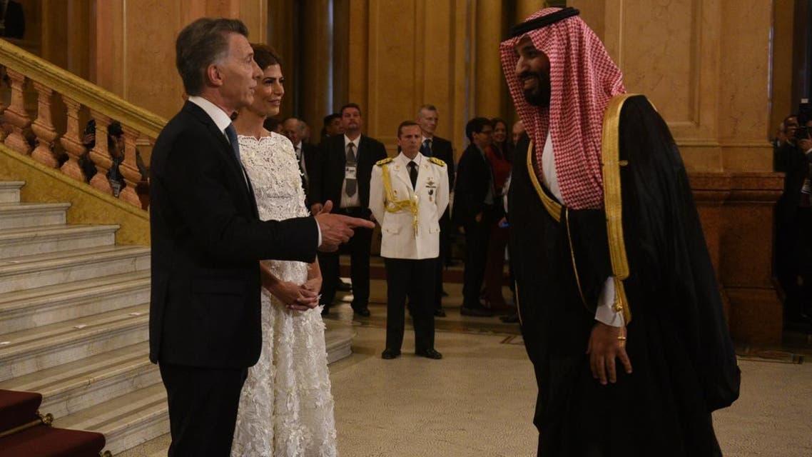 Saudi Crown Prince and Macri (AFP)