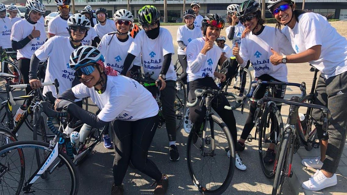 Saudi UAE women cycling teams. (Supplied)