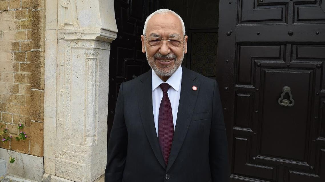 leader of the Ennahdha Party Rached Ghannouchi (AFP)