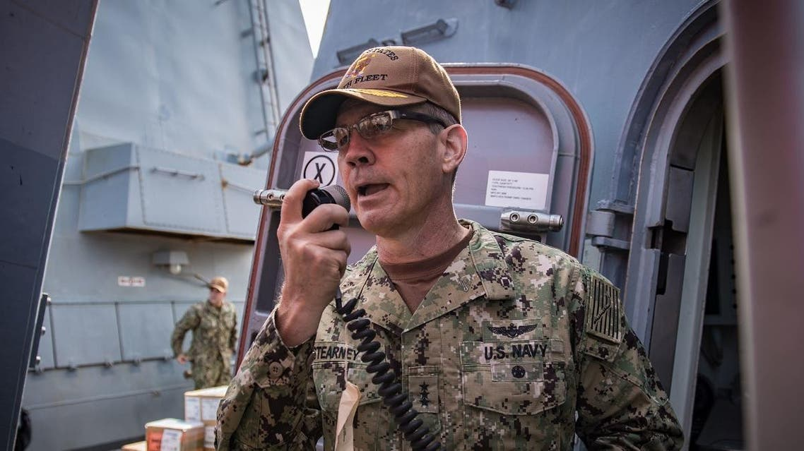 Vice admiral Scott Stearney, who began his post as commander of US Naval Forces Central Command -- including the US Fifth Fleet -- and Combined Maritime Forces in May, was found dead at his residence in the Gulf country. (AFP)