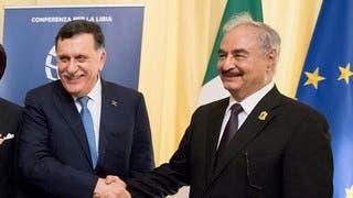 السراج وحفتر يبحثان مع مسؤولين أردنيين الأزمة الليبية