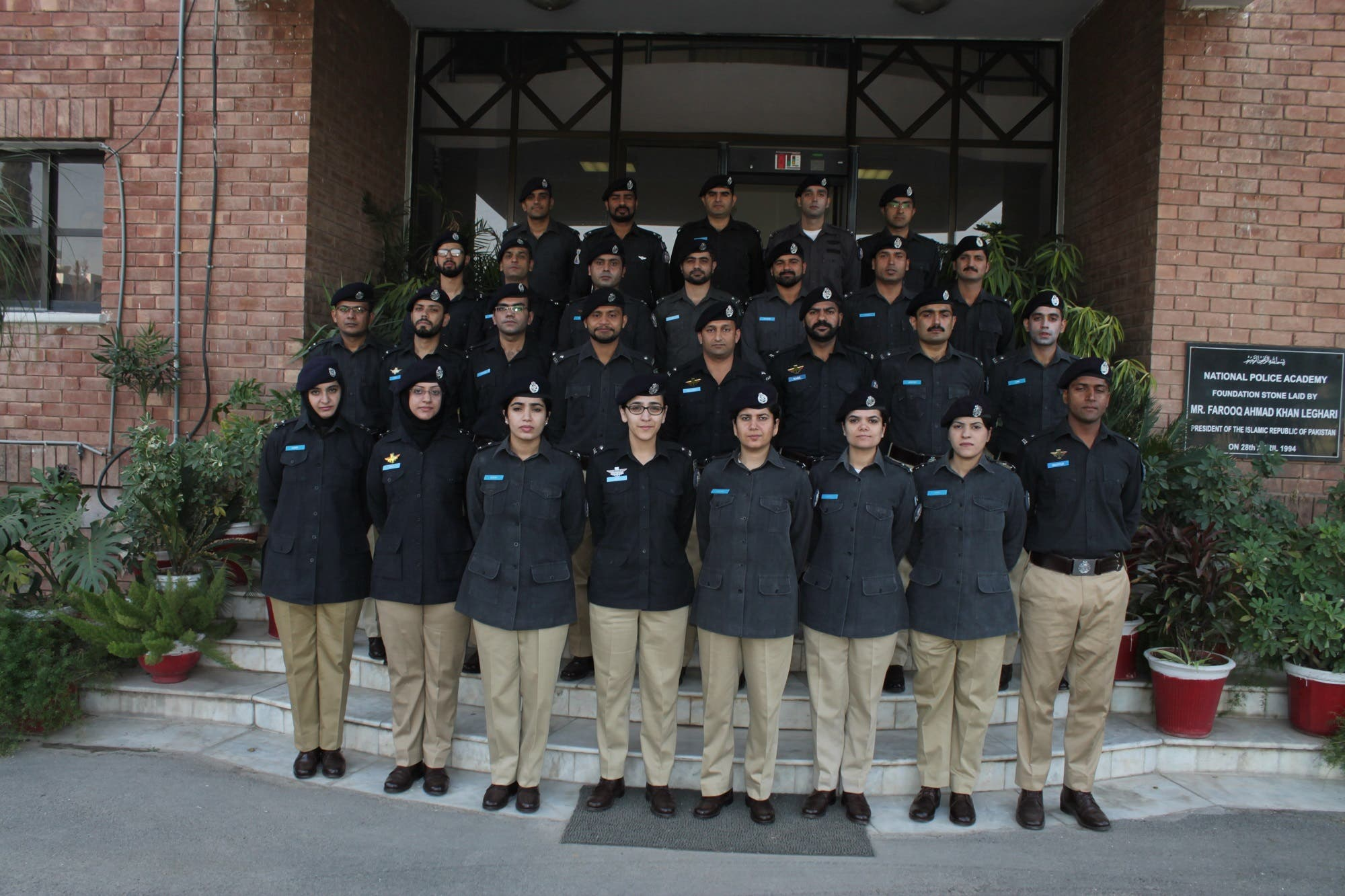 ASP Suhai Aziz and coleagues at National Police Academy. (Supplied)