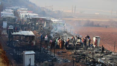 لبنان.. وفاة رجل وطفل سوريين في حريق بمخيم للاجئين