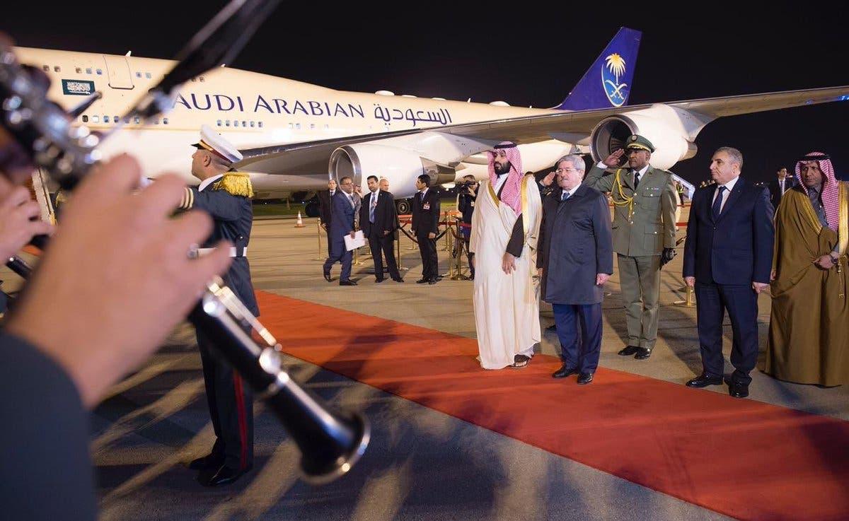 Saudi Crown Prince Mohammed bin Salman arrives in Algeria main 2