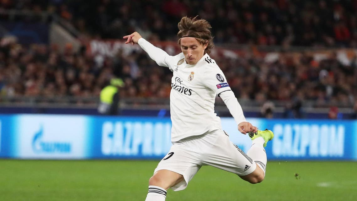 Real Madrid's Luka Modric in action REUTERS