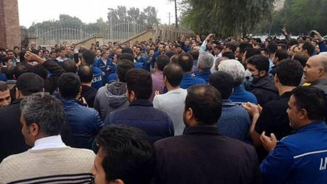 Ahwaz steel workers protest. (Supplied)