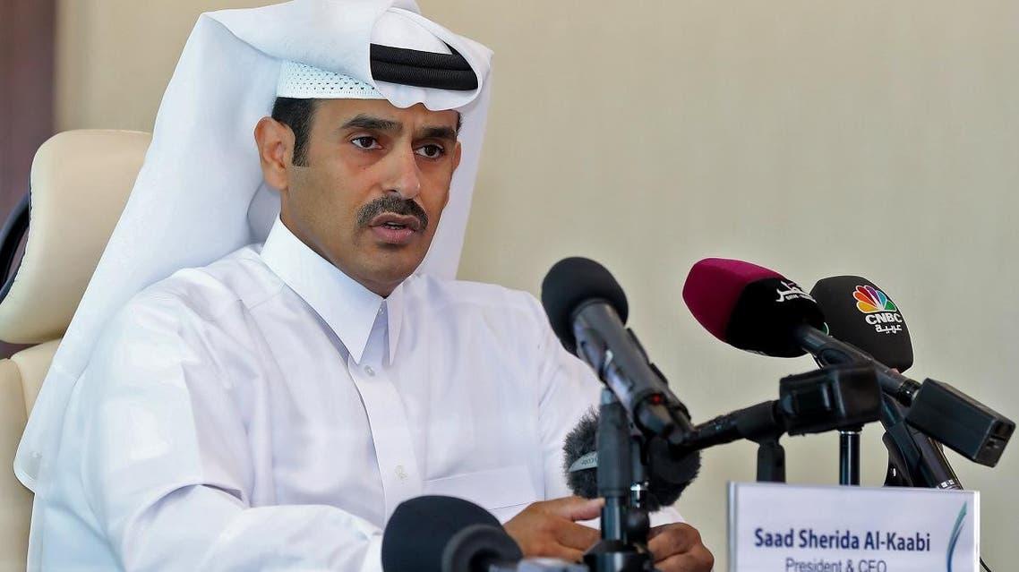 Saad al-Kaabi Qatar energy minister. (AFP)