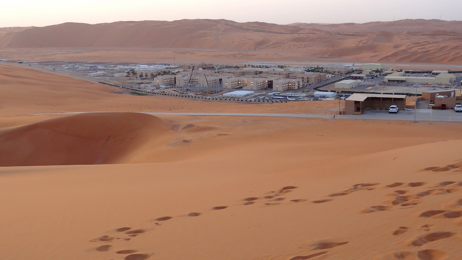 Shaybah, the base for Saudi Aramco's Natural Gas Liquids plant and oil production in Saudi Arabia's remote Empty Quarter desert, on May 10, 2016. (AFP)