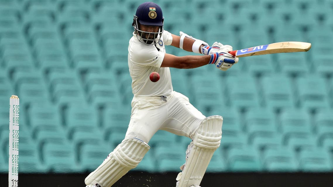 India's batsman Ajinkya Rahane plays a shot on the second day of the tour match against Cricket Australia XI at the SCG in Sydney on November 29, 2018.  (AFP)