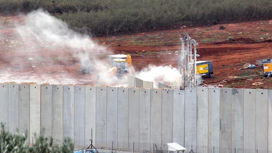 Israel said it had detected Hezbollah 'attack tunnels' infiltrating its territory from Lebanon. (AFP)