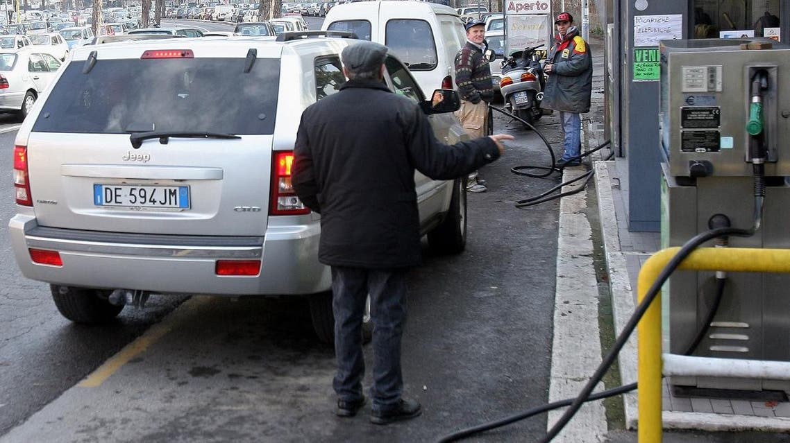 Gas Station in Rome. (AFP)