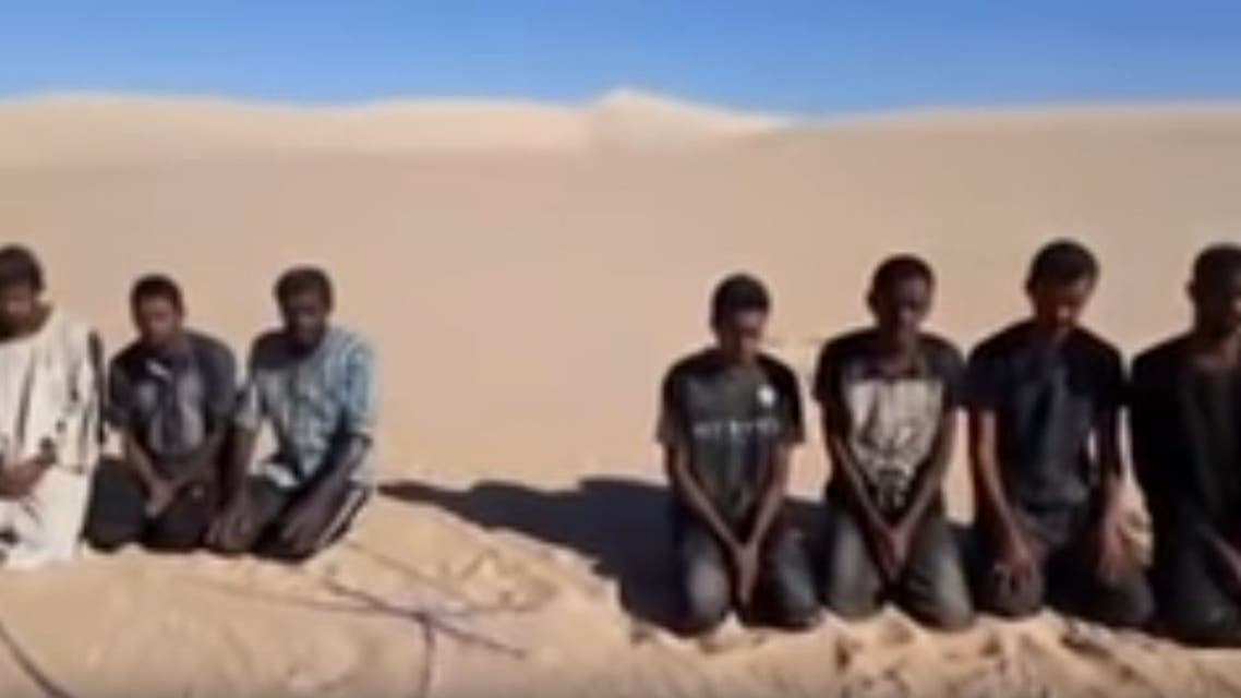 من فيديو تعذيب سودانيين بليبيا