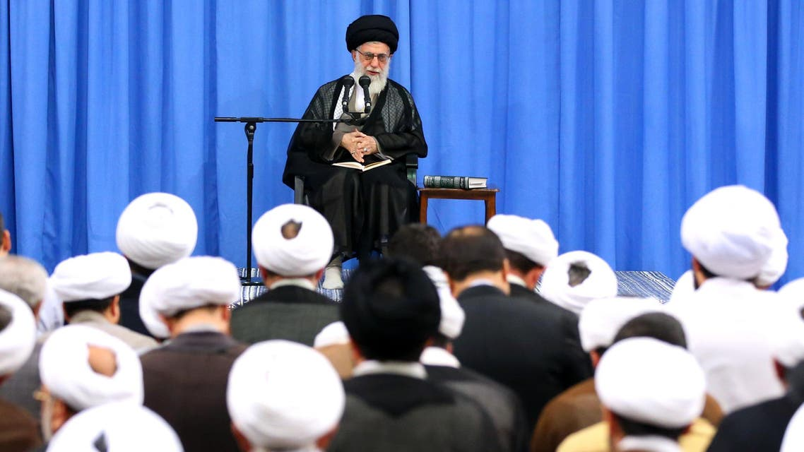 Iran's Supreme Leader, Ayatollah Ali Khamenei, addressing clerics in Tehran on September 26, 2016. (File photo: AFP)