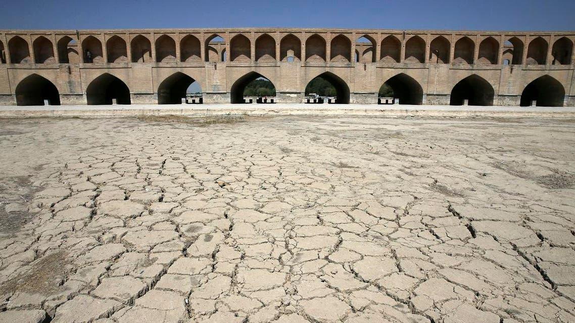 Iran Zayanderud river drought. (AP)