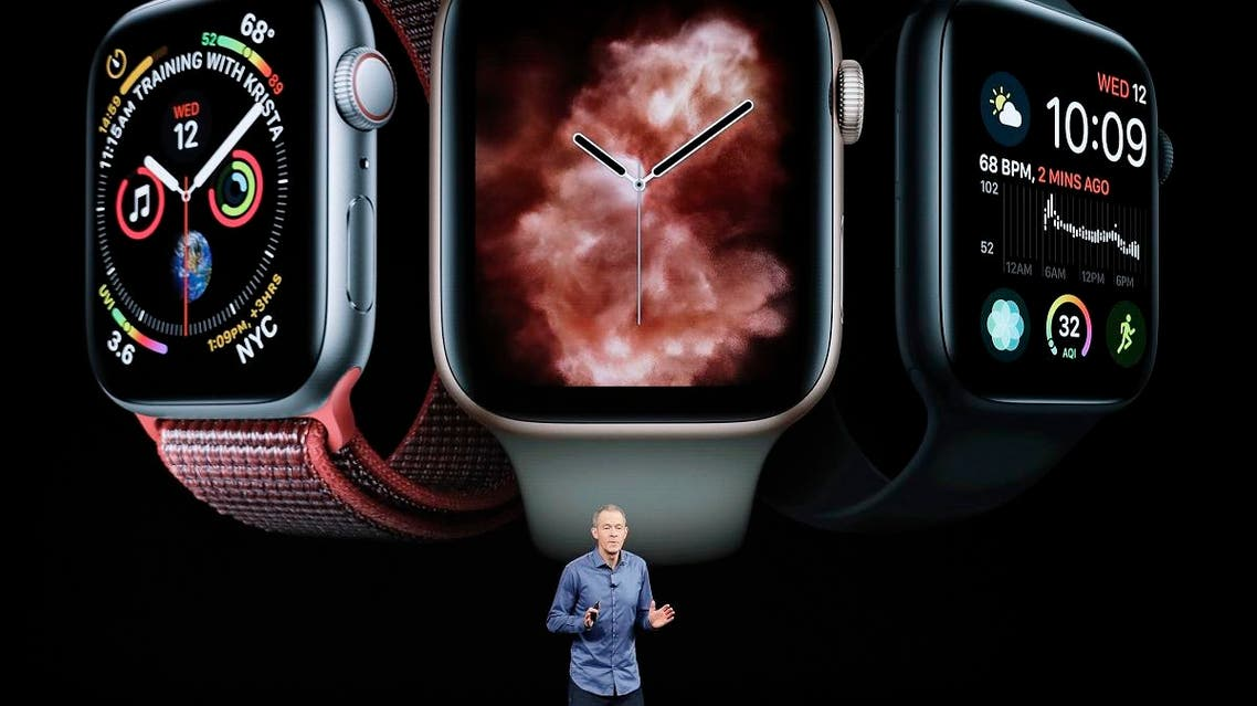 Jeff Williams, Apple's COO, speaks about the Apple Watch Series 4 during an event to announce new Apple products in Cupertino, California in September 12, 2018.  (AP)