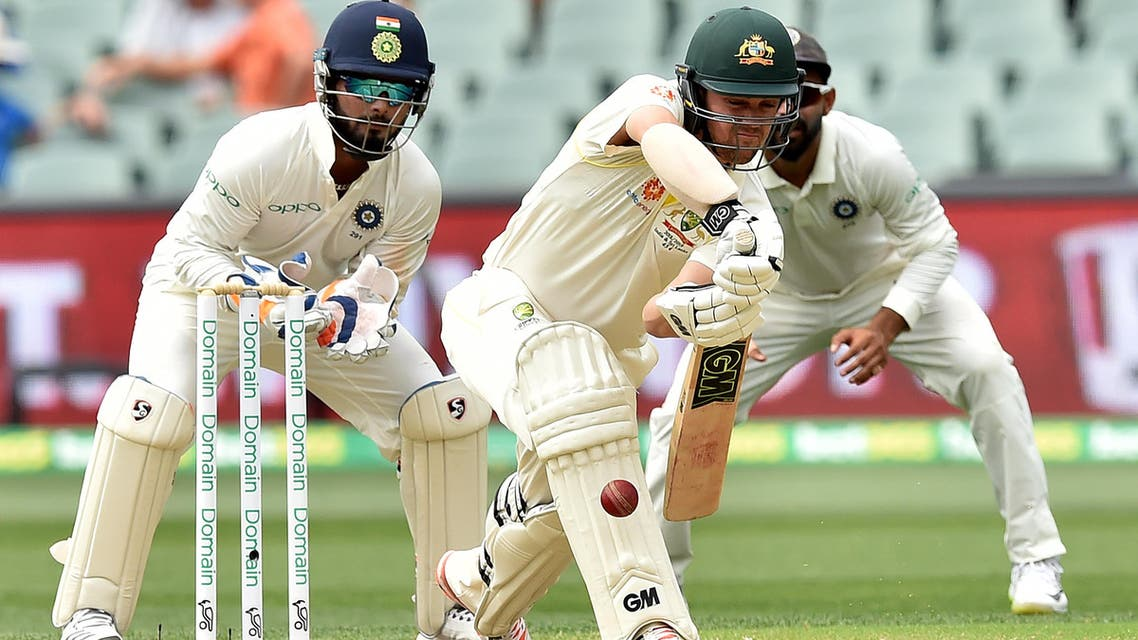 The recalled Handscomb made a better fist of partnering Khawaja, but Ashwin returned to break the partnership with a pearl of a delivery that flicked Khawaja's glove on the way through to the keeper. (AFP)