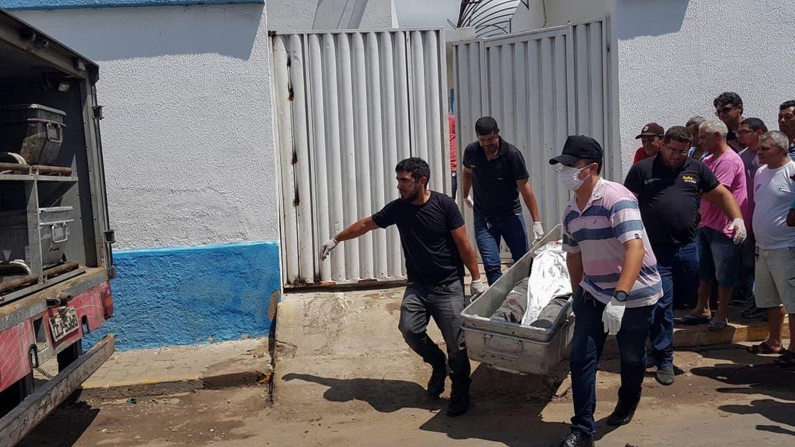 Braqzil bank robbery shootout. (AFP)