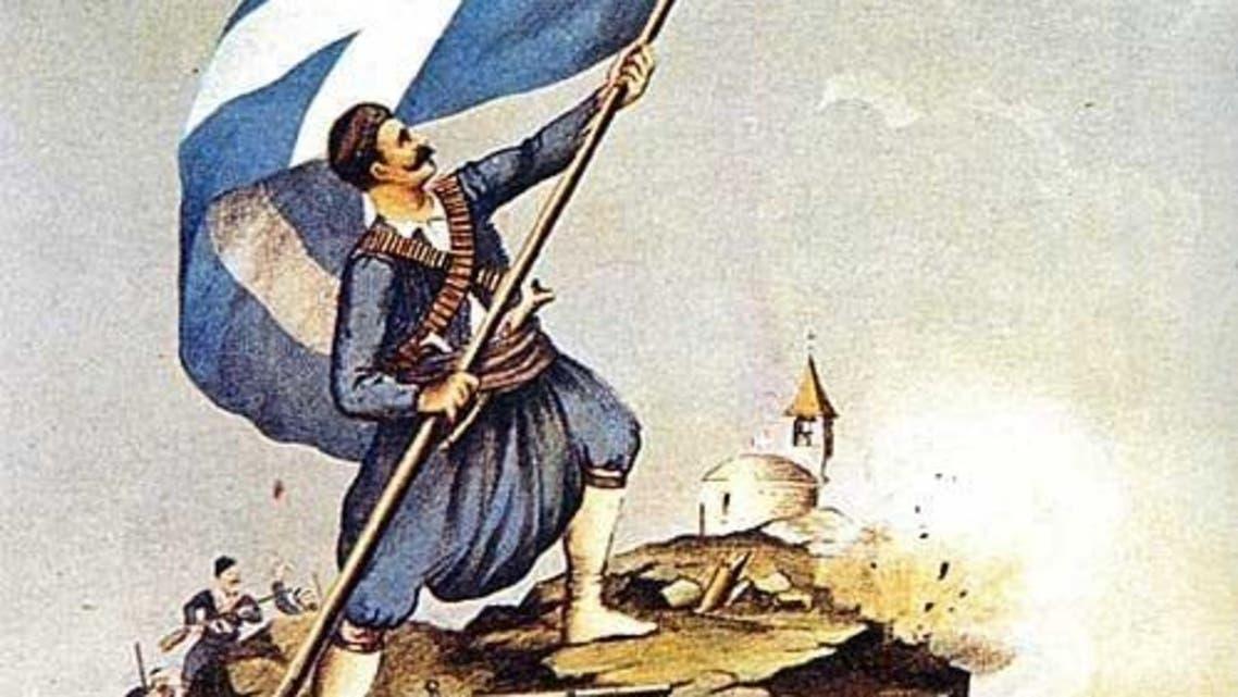 عدد من اليونانيين الثائرين على الحكم العثماني
