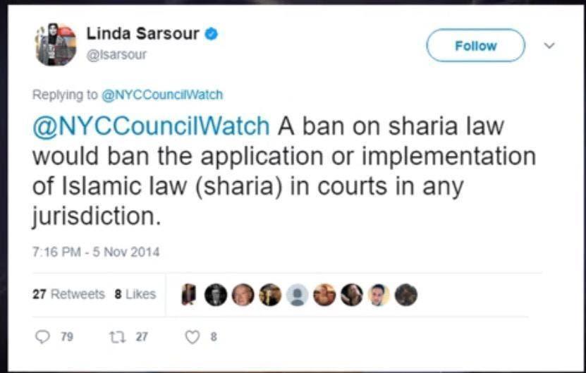 tweet by Linda Sarsour 2 (Supplied)